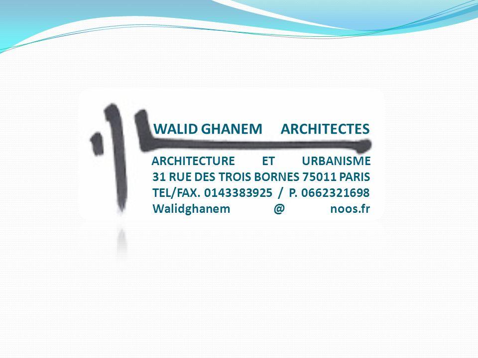 ARCHITECTURE ET URBANISME 31 RUE DES TROIS BORNES 75011 PARIS