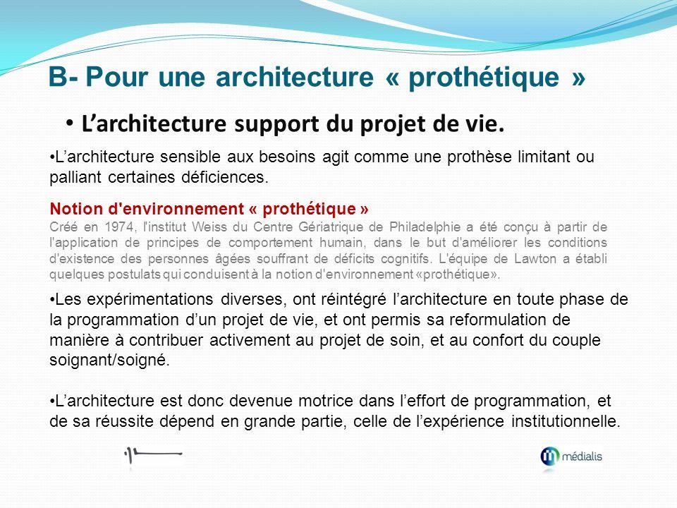 B- Pour une architecture « prothétique »