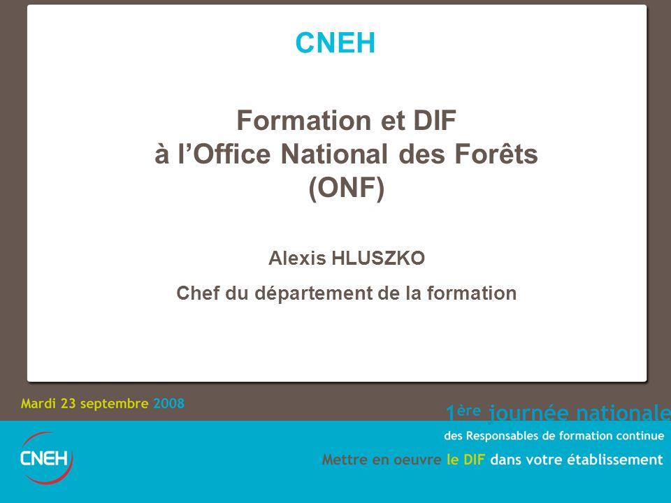 à l'Office National des Forêts Chef du département de la formation