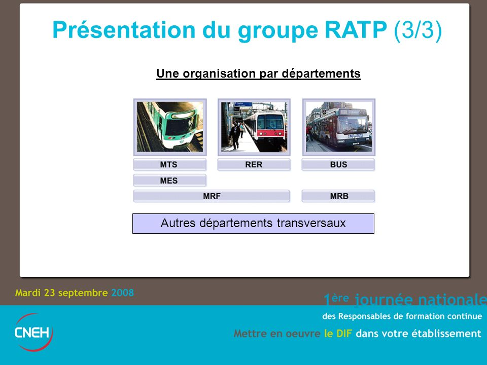 Présentation du groupe RATP (3/3)