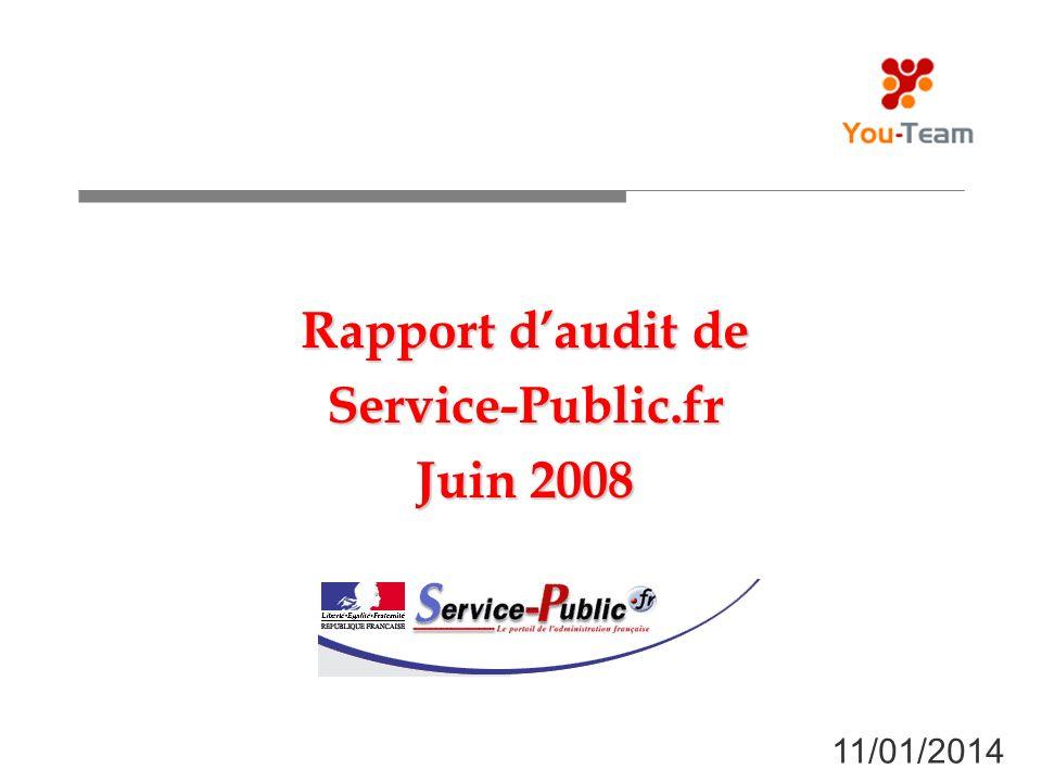 Rapport d'audit de Service-Public.fr Juin 2008