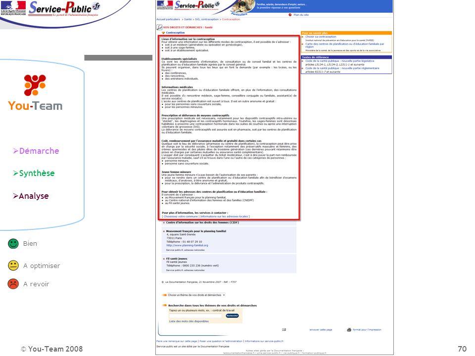Portail de l'administration publique La perception du site