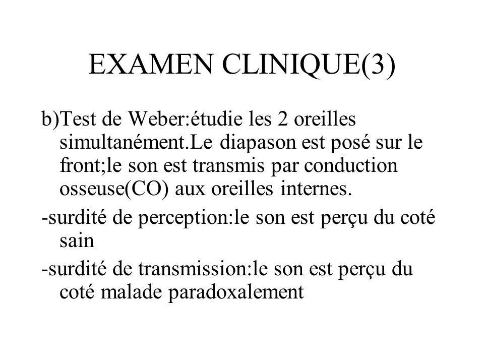 EXAMEN CLINIQUE(3)