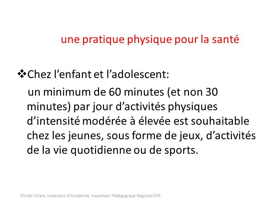 une pratique physique pour la santé Chez l'enfant et l'adolescent: