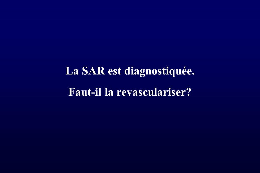 La SAR est diagnostiquée. Faut-il la revasculariser