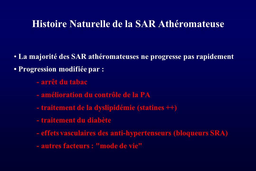 Histoire Naturelle de la SAR Athéromateuse