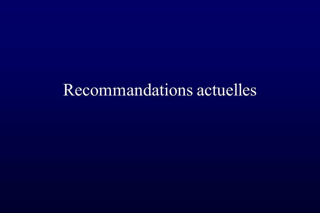 Recommandations actuelles