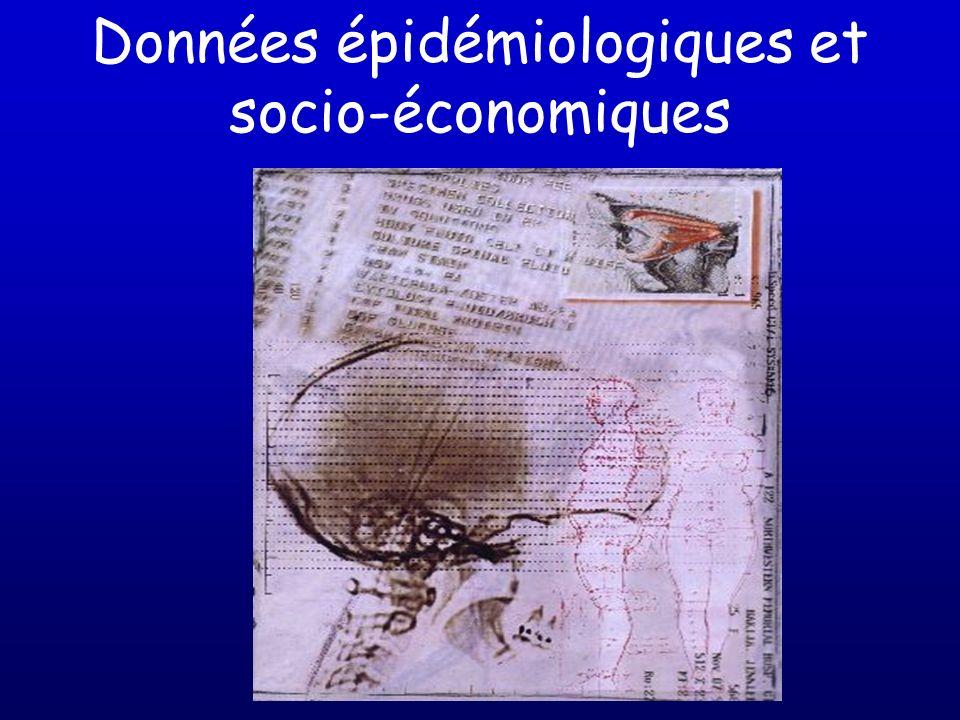 Données épidémiologiques et socio-économiques