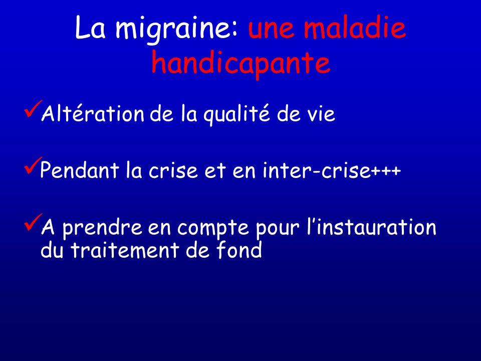 La migraine: une maladie handicapante
