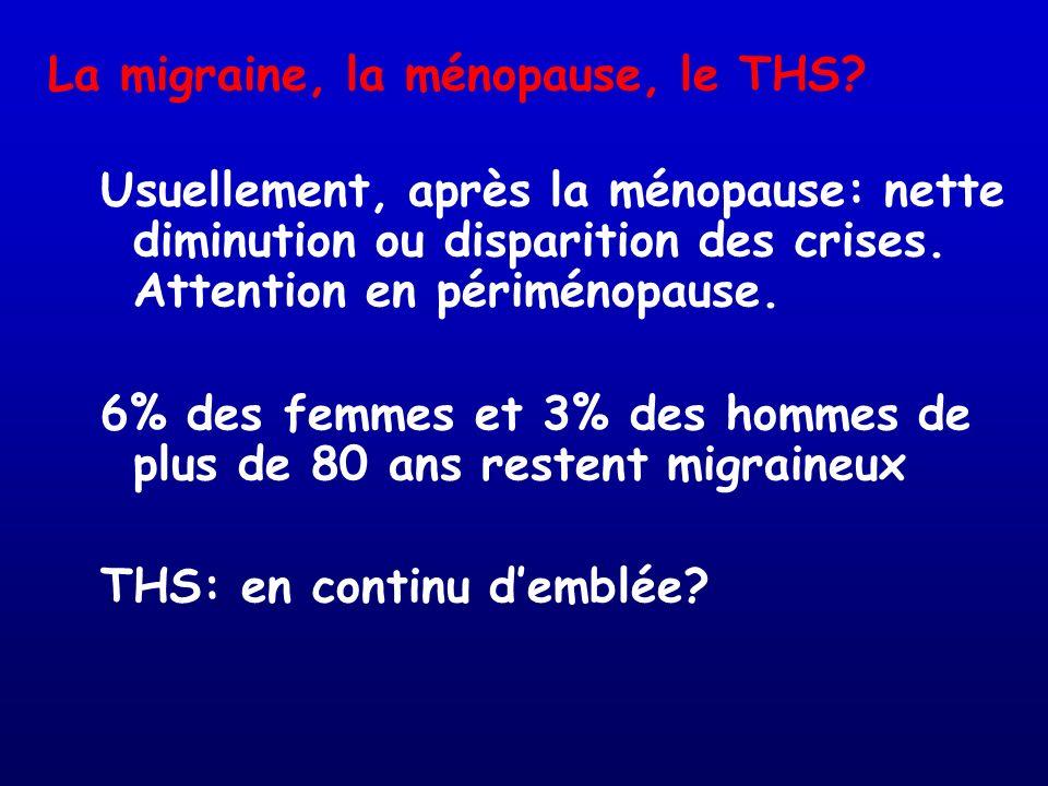 La migraine, la ménopause, le THS