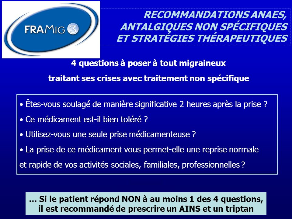 RECOMMANDATIONS ANAES,