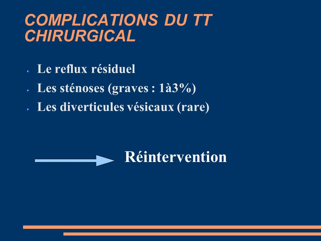 COMPLICATIONS DU TT CHIRURGICAL