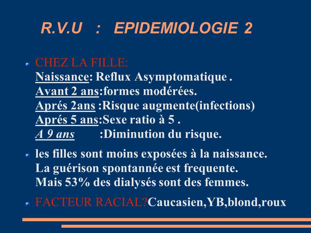 R.V.U : EPIDEMIOLOGIE 2