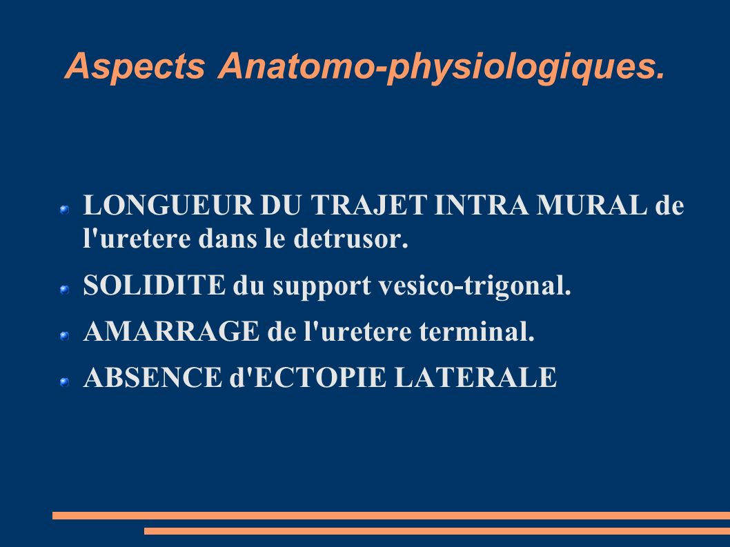 Aspects Anatomo-physiologiques.