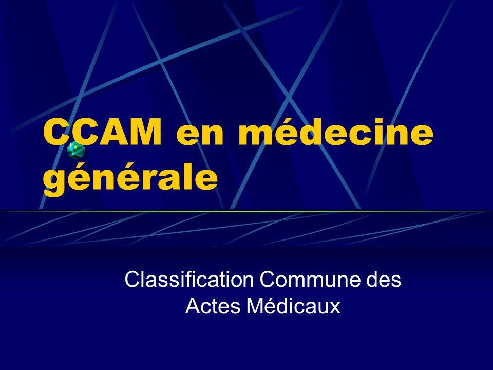 CCAM en médecine générale