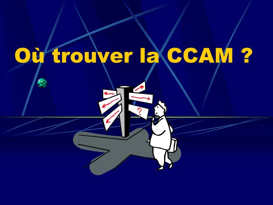Où trouver la CCAM