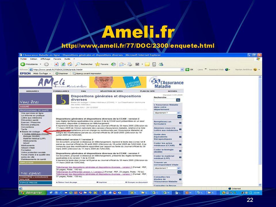 Ameli.fr http://www.ameli.fr/77/DOC/2300/enquete.html