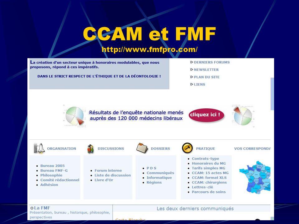 CCAM et FMF http://www.fmfpro.com/