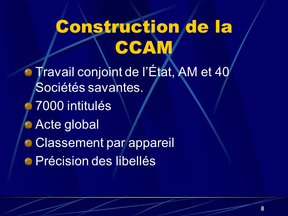 Construction de la CCAM