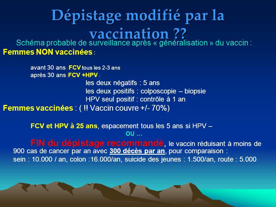Dépistage modifié par la vaccination