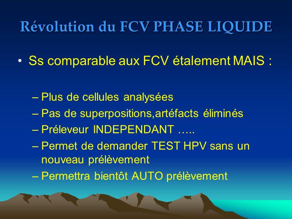 Révolution du FCV PHASE LIQUIDE