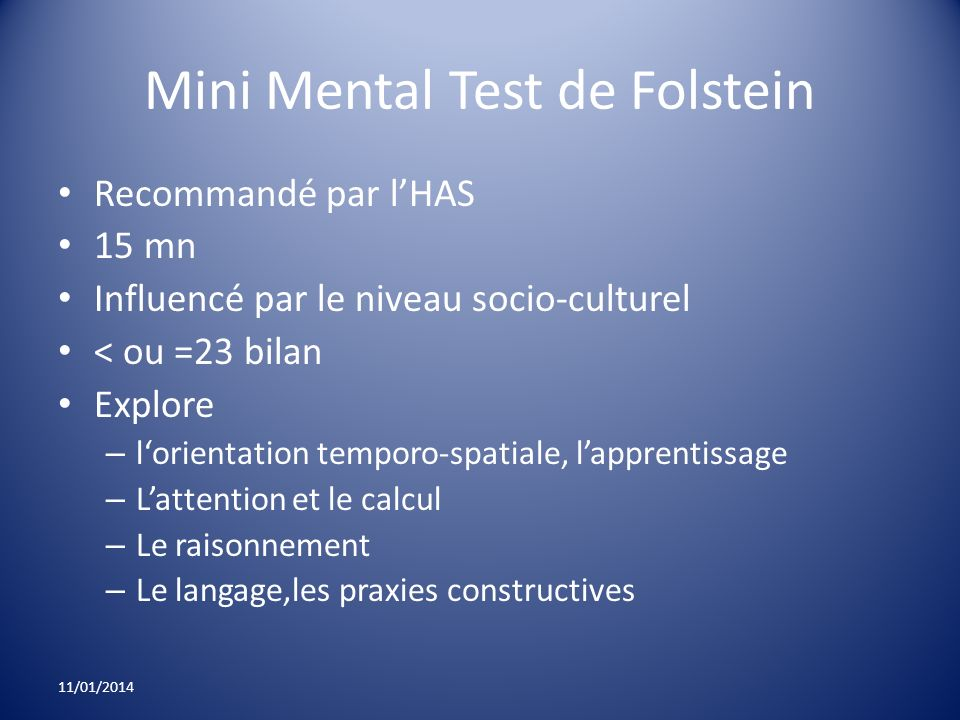 Mini Mental Test de Folstein