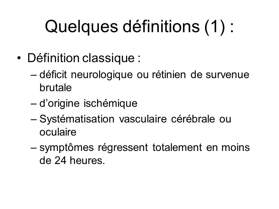 Quelques définitions (1) :