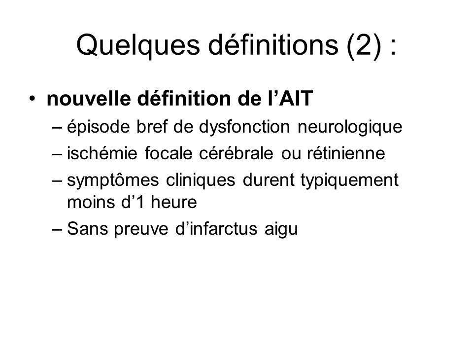 Quelques définitions (2) :