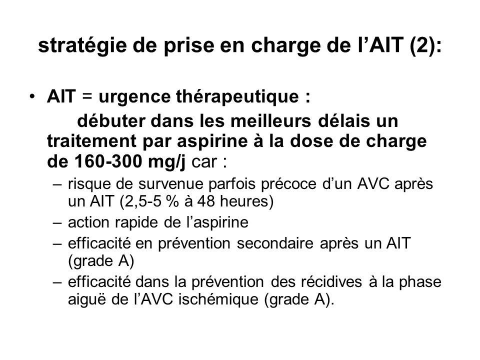 stratégie de prise en charge de l'AIT (2):