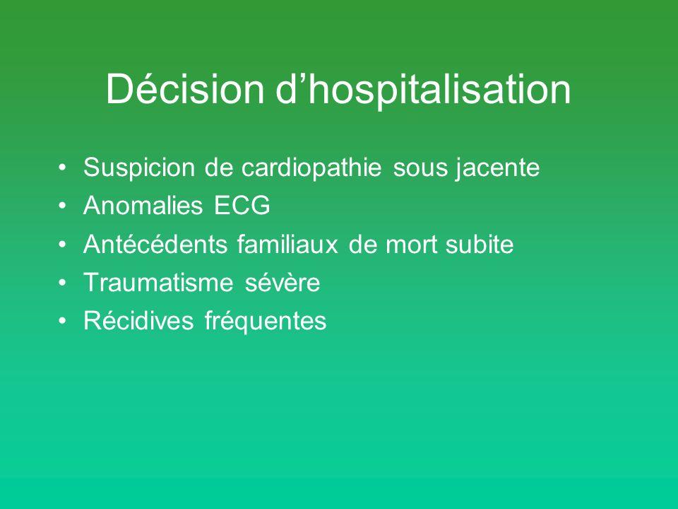 Décision d'hospitalisation