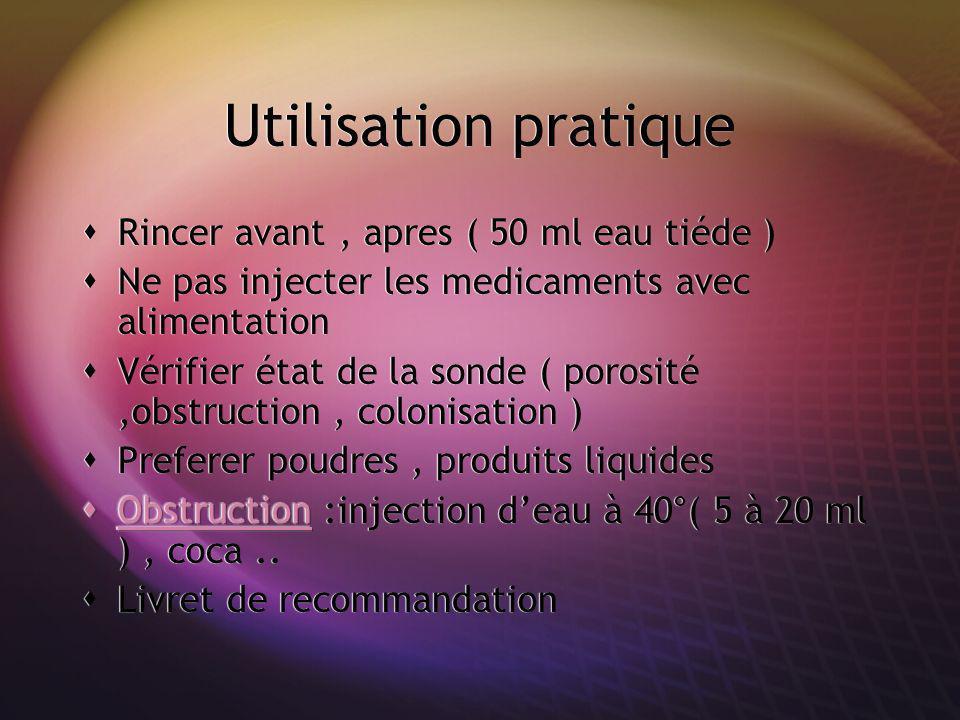 Utilisation pratique Rincer avant , apres ( 50 ml eau tiéde )