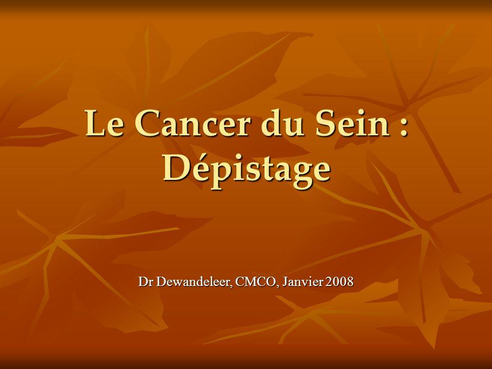 Le Cancer du Sein : Dépistage