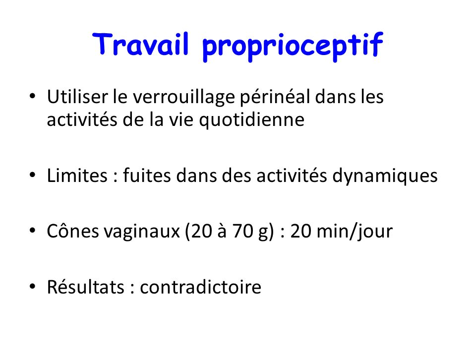 Travail proprioceptif