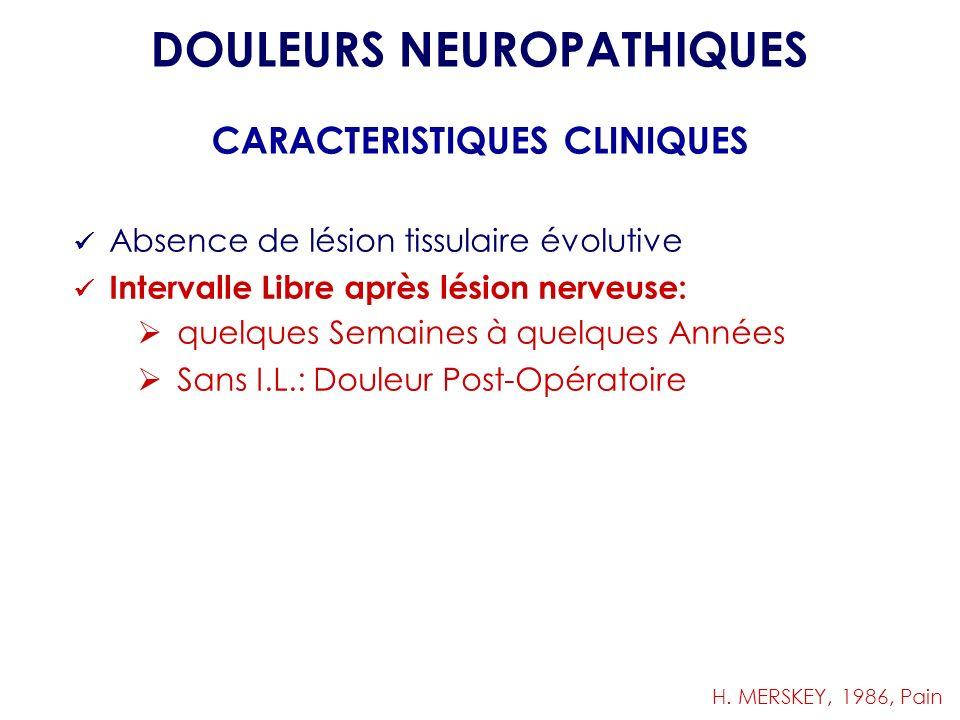 DOULEURS NEUROPATHIQUES CARACTERISTIQUES CLINIQUES