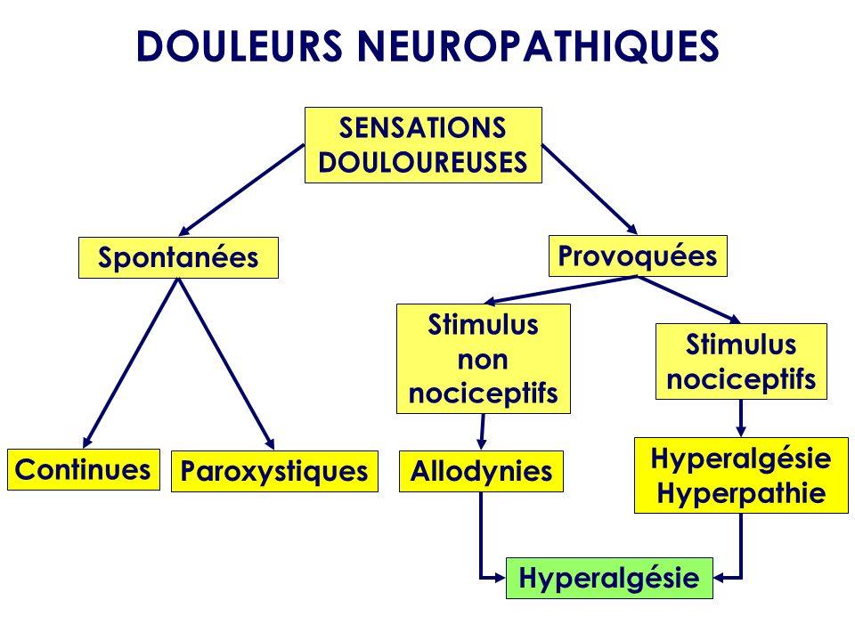 DOULEURS NEUROPATHIQUES SENSATIONS DOULOUREUSES
