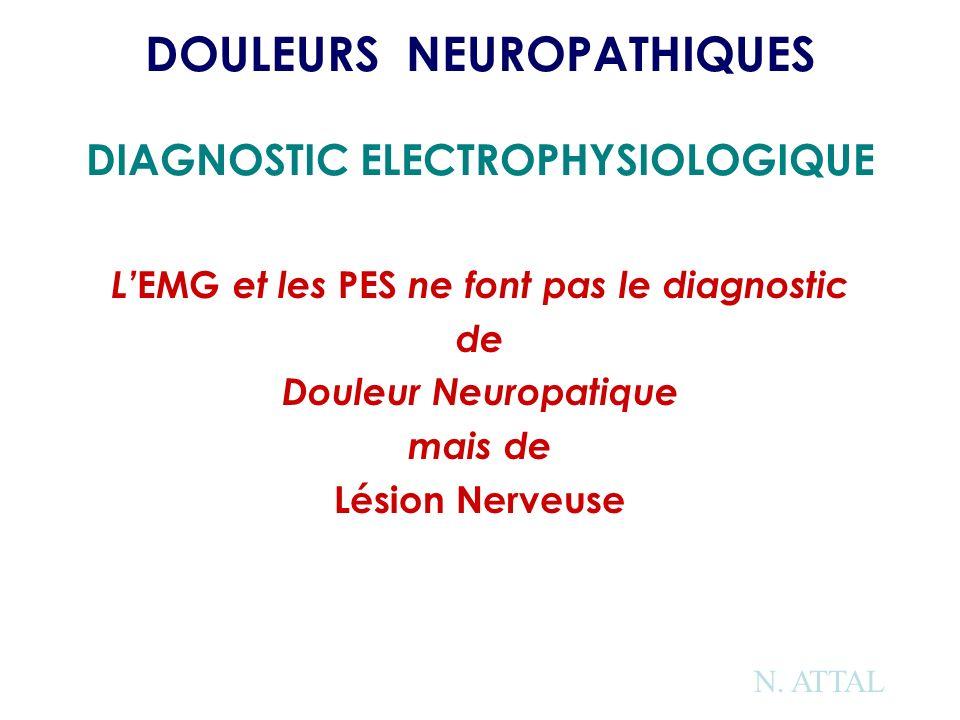 DOULEURS NEUROPATHIQUES DIAGNOSTIC ELECTROPHYSIOLOGIQUE