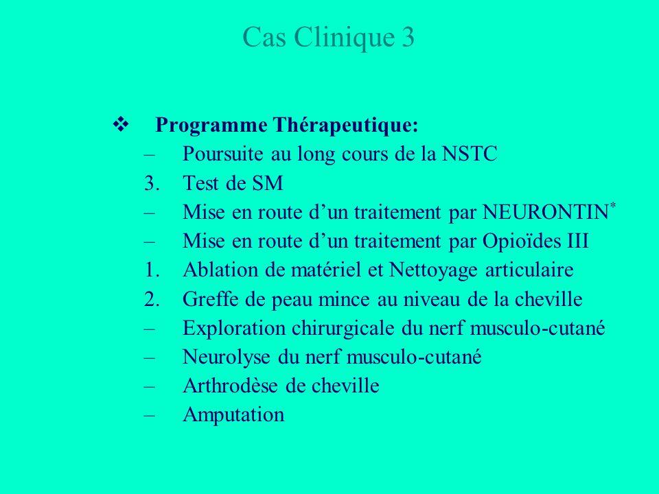 Cas Clinique 3 Programme Thérapeutique: