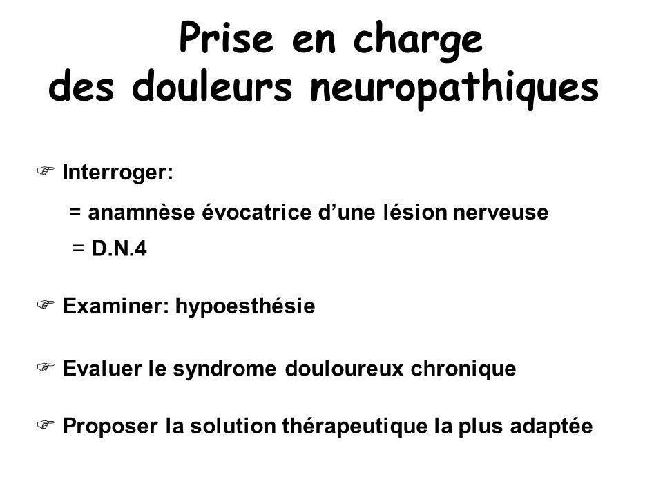 Prise en charge des douleurs neuropathiques