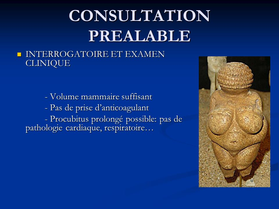 CONSULTATION PREALABLE