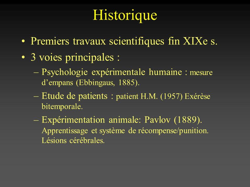 Historique Premiers travaux scientifiques fin XIXe s.