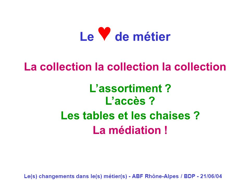 La collection la collection la collection Les tables et les chaises