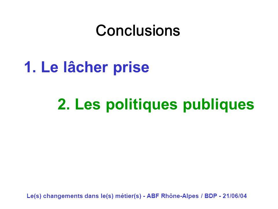 2. Les politiques publiques