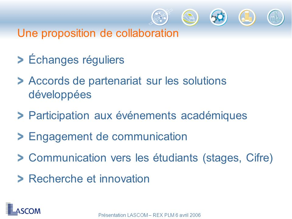 Une proposition de collaboration