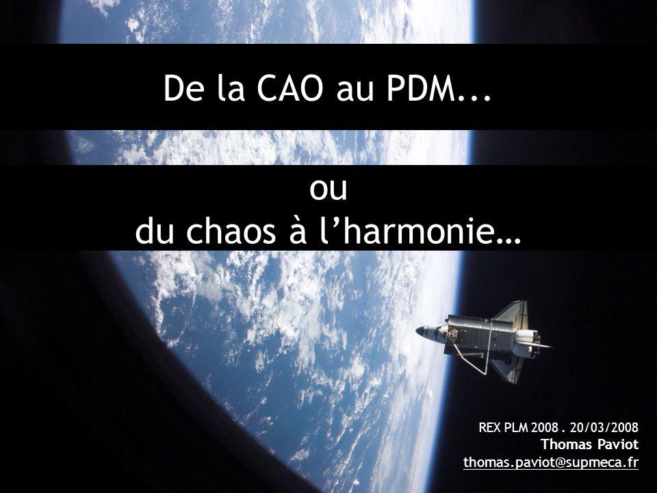 ou du chaos à l'harmonie…