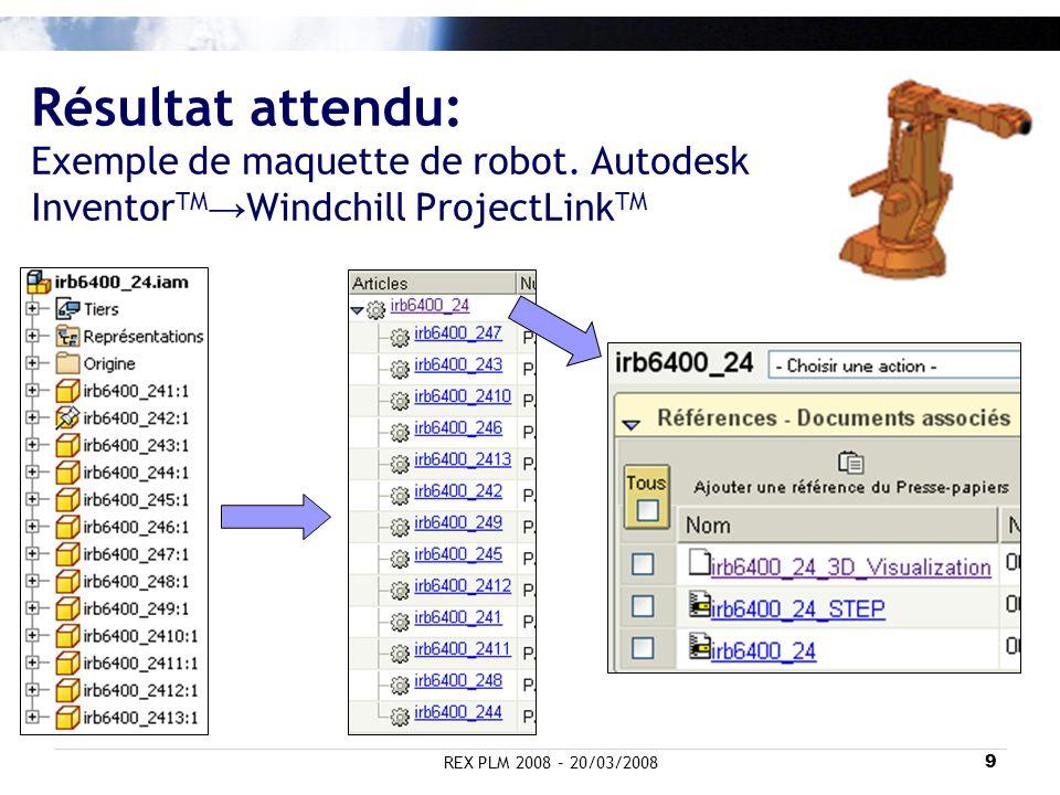 Résultat attendu: Exemple de maquette de robot