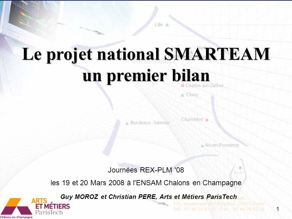 Le projet national SMARTEAM un premier bilan