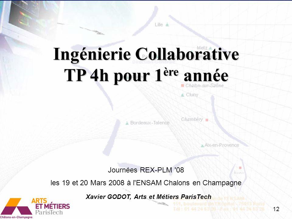 Ingénierie Collaborative Xavier GODOT, Arts et Métiers ParisTech