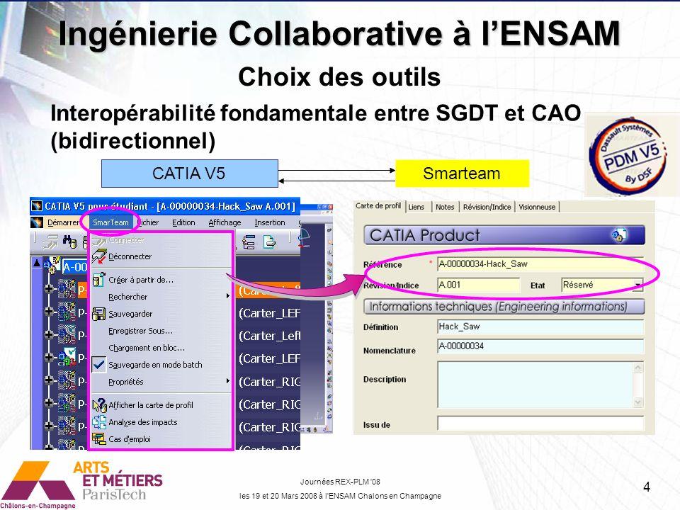 Interopérabilité fondamentale entre SGDT et CAO (bidirectionnel)