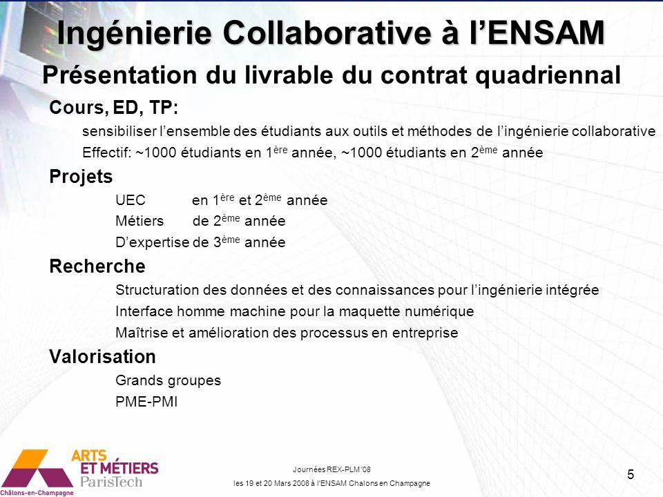 Ingénierie Collaborative à l'ENSAM