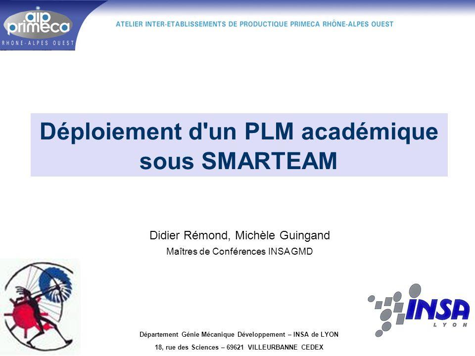 Déploiement d un PLM académique sous SMARTEAM